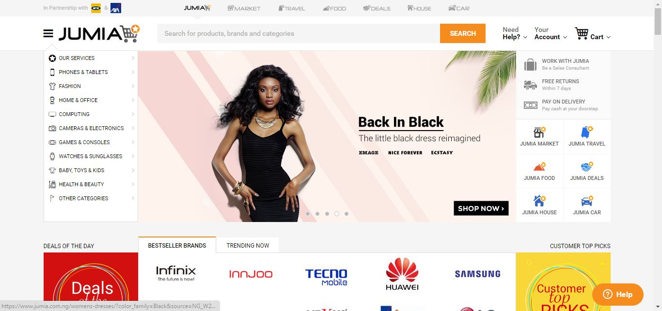 Online stores in nigeria the top 10 players africa business classroom abc - Jumia office address in lagos ...
