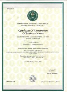 ABC Registration certificate